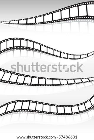 Film strip  vector background illustration set