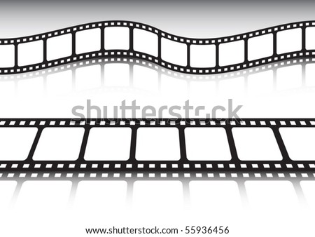 Film strip vector collection