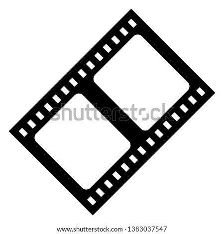 Film strip vector icon isolated on white background