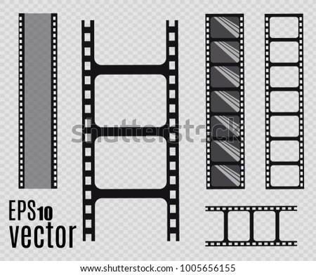 Film strip, Vector illustration. Set