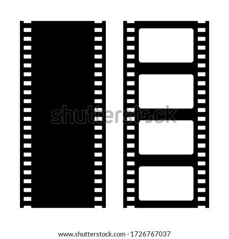 Film strip vector retro icons isolated on white background Photo stock ©