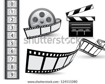 Film strip vector set