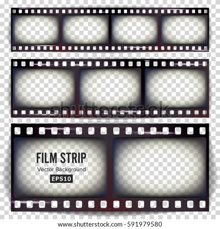 film strip vector. set...