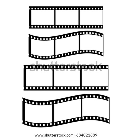 Film Strip, White background and two stripes without background