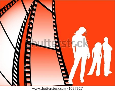 Film strip youth - vector