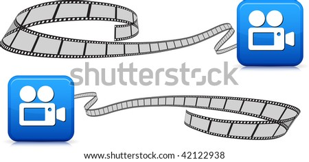 film strips on white with