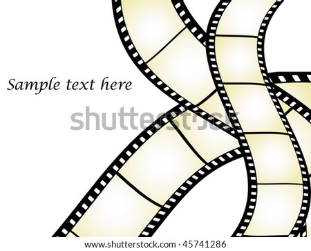 Film strips vector with place for text