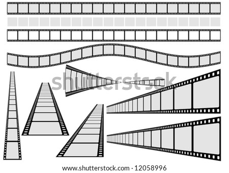 film clipart. stock vector : Film Vector Set