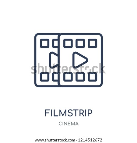 filmstrip icon. filmstrip linear symbol design from Cinema collection. Simple outline element vector illustration on white background.