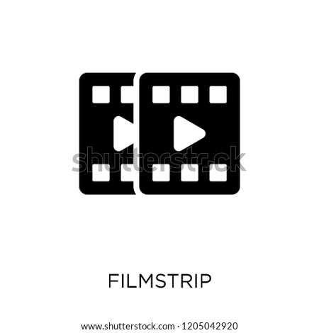filmstrip icon. filmstrip symbol design from Cinema collection. Simple element vector illustration on white background.