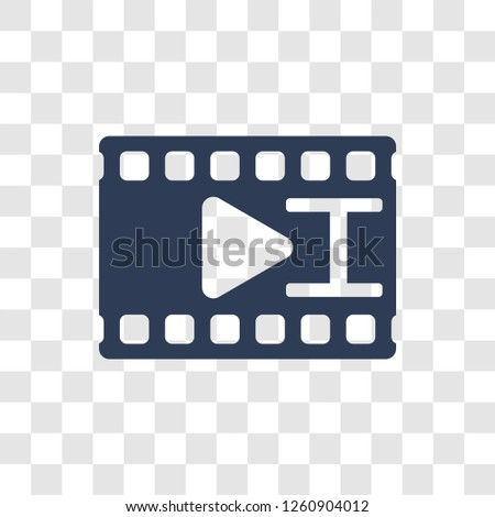 filmstrip icon. Trendy filmstrip logo concept on transparent background from Cinema collection