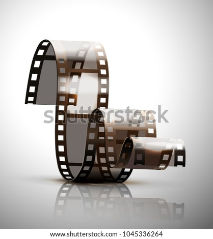 filmstrip on a gray background