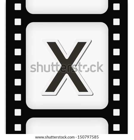 filmstrip  the letter x