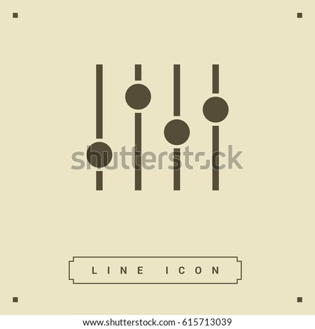 Filter control settings line vector icon