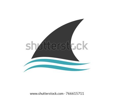 Fin Shark above the Water Modern Logo Symbol ストックフォト ©