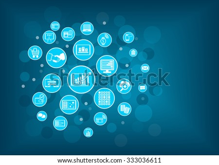 Fin-Tech (Financial Technology) background. Information technology innovation within banking and financial services