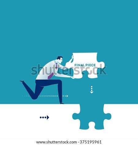 Final Piece. Business concept illustration.