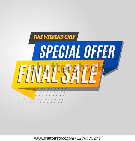 final sale banner modern template