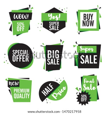 Final sale tag collection, set of banner elements for website and advertising. Discount label design. Vector promotion badge icons. Price sticker EPS10