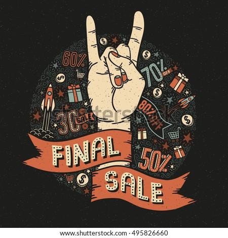 final sale vintage retro poster