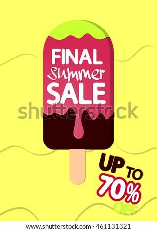 final summer sale  melting ice