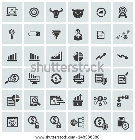 Finance and analysis icons,vector