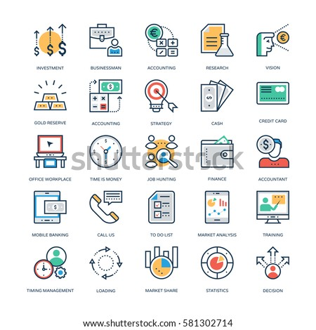 Finance and Banking Vector Icons
