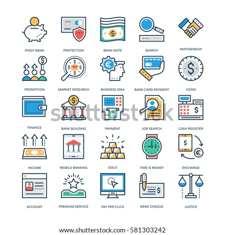 Finance and Banking Vector Icons 1