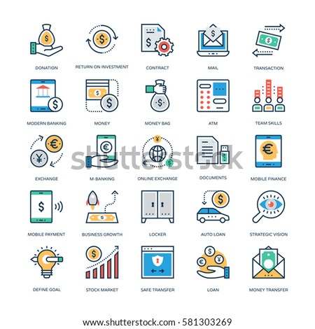 Finance and Banking Vector Icons 7