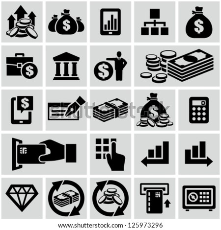 Finance & banking icons set. - stock vector