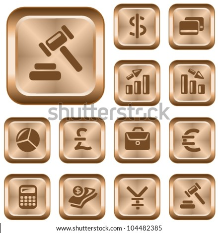 Finance button set - stock vector