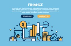 Finance Concept for web page. Vector illustration