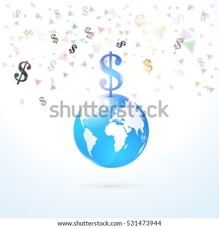 finance concept isolated globe