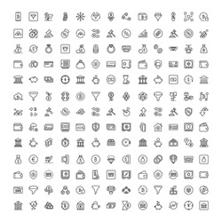 Finance design icons set. Thin line vector icons for mobile concepts and web apps. Premium quality icons in trendy flat style. Collection of high-quality black outline logo
