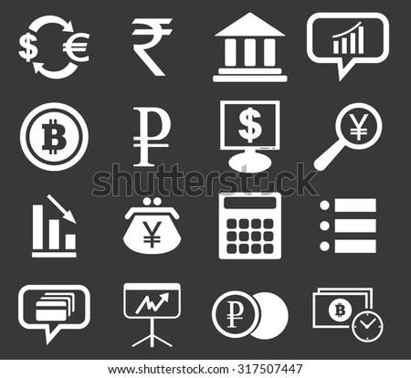 finance icon set 1  simple