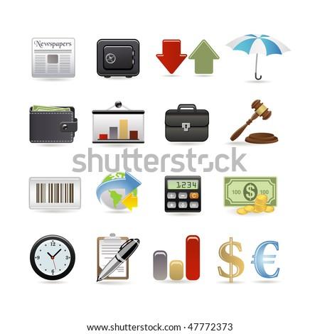 Finance icon set. Vector illustration