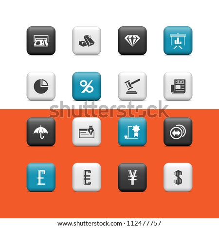 Finance icons. Buttons