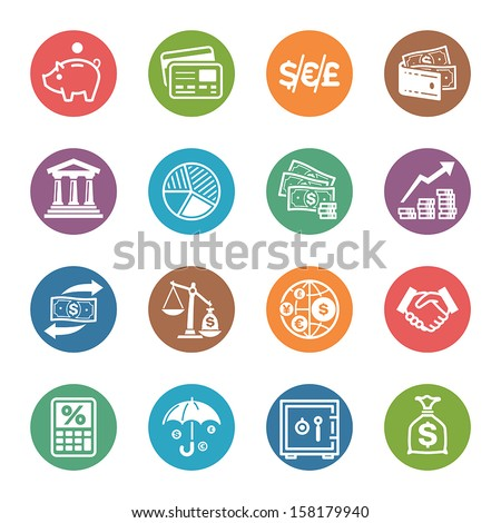 Finance Icons - Dot Series