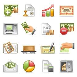 Finance icons, set 2.