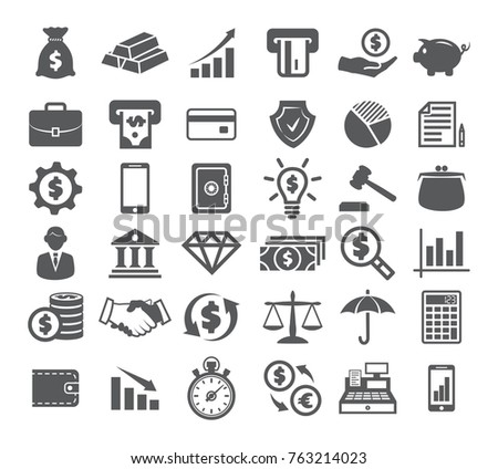 Finance icons set