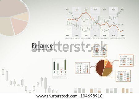 Finance infographics graphs charts and statistics for presentations reports etc