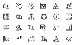 Finance Line Vector Icons 2