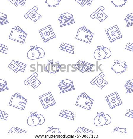 stock-vector-finance-seamless-pattern-background-trendy-white