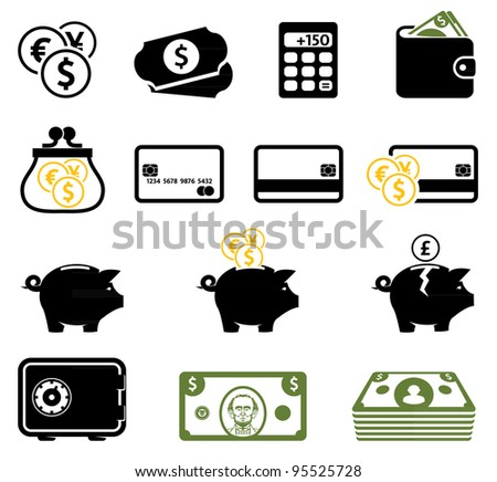 Finance symbols set