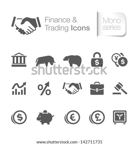finance   trading related icons
