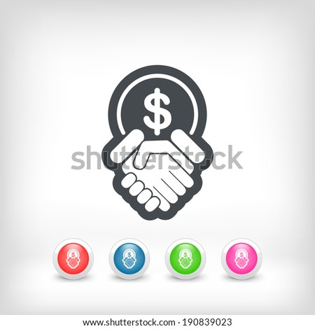 Financial agreement icon