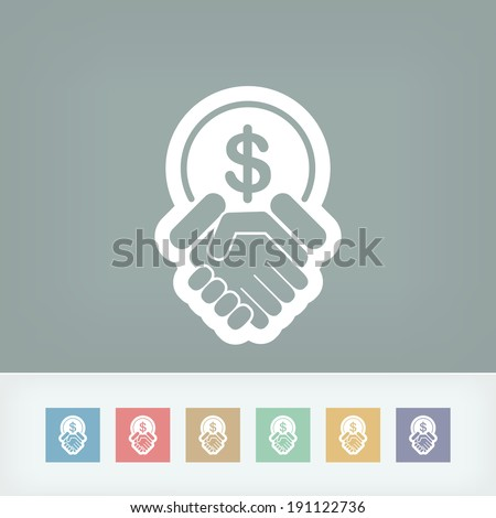 Financial agreement icon - stock vector