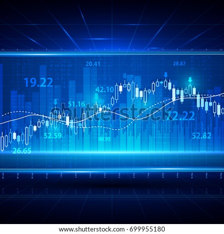 Financial and business abstract background with candle stick graph chart. Stock market investment vector concept. Finance investment stock market exchange graph and chart illustration