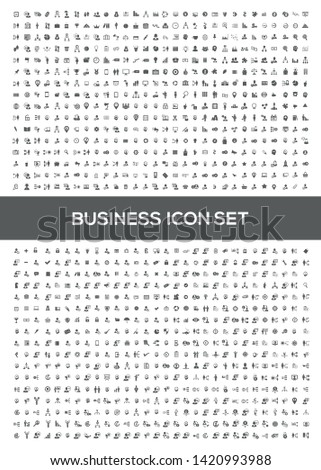 financial and business vector icon set design