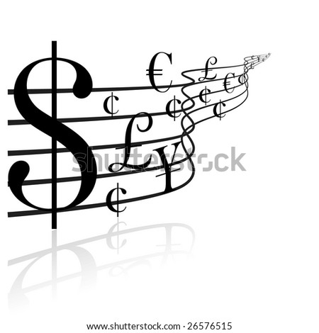 Financial concept - money music